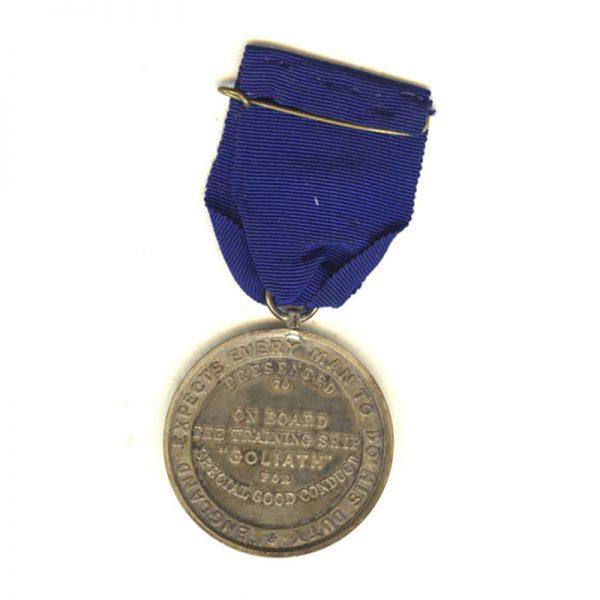 HMS Goliath Training Ship medal 2