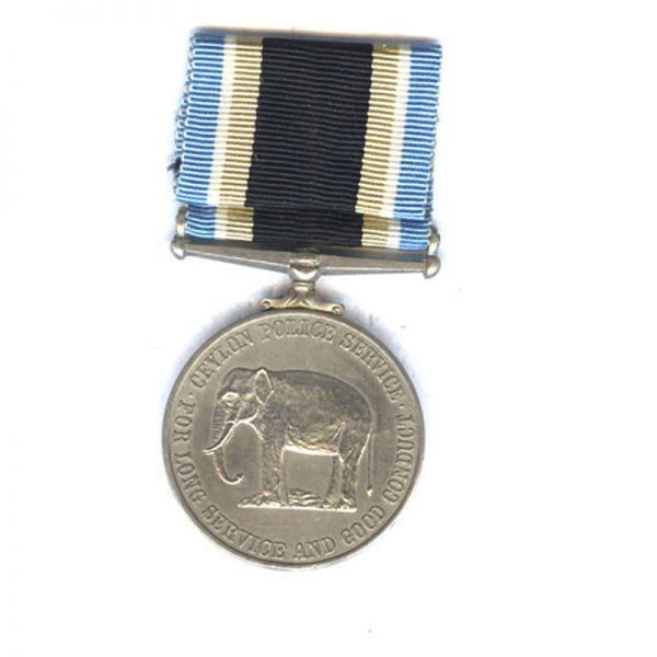 Ceylon Police Long Service and Good Conduct Medal 2