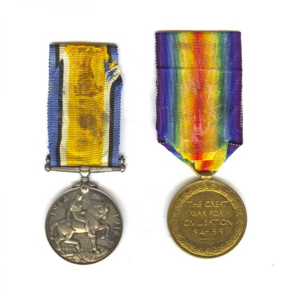 British War Medal and Victory Medal 2