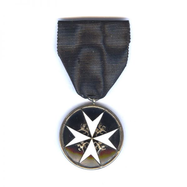 Order of St. John Officer Serving Brother silver and enamel 1