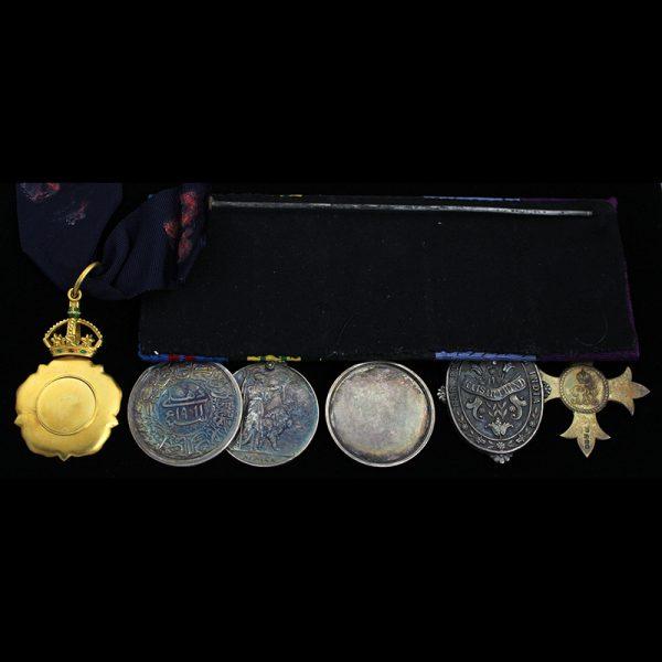 C.I.E. Order of Indian Empire Neck badge group , O.B.E  K.I.H 2
