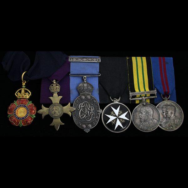 C.I.E. Order of Indian Empire Neck badge group , O.B.E  K.I.H 1