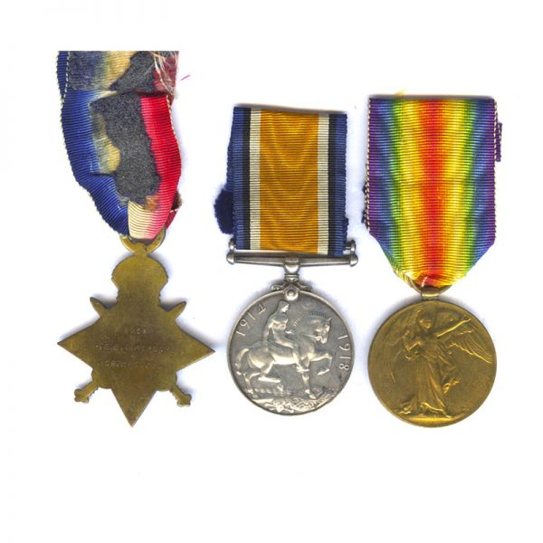 1914-15 Star (Pte North'd Yeo) 2