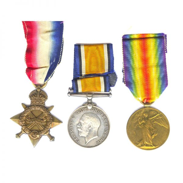 1914-15 Star (Pte North'd Yeo) 1