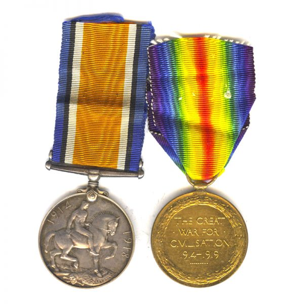 British War and Victory Medal 2