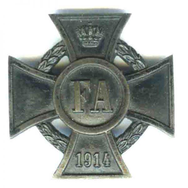 Freidrich August Cross 1914-18 1st class 1