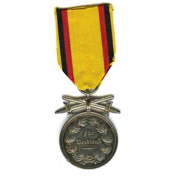 Silver Merit medal with swords 1867-1918 (L14237)  E.F. £125 2