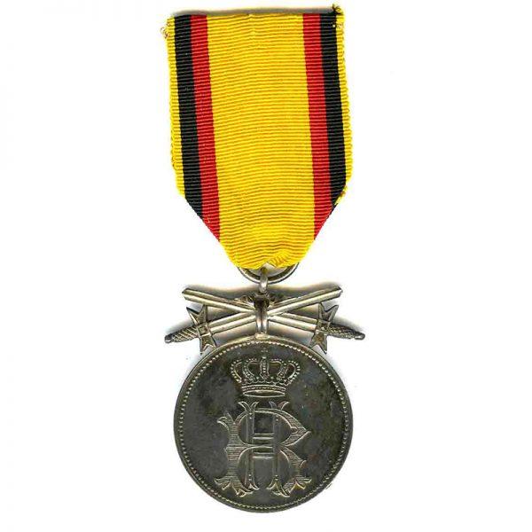 Silver Merit medal with swords 1867-1918 (L14237)  E.F. £125 1