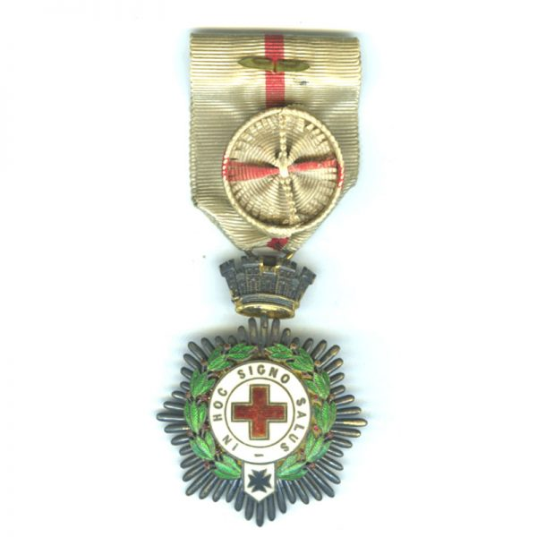 Red Cross Order medal 1st class (1931-1939) neck badge (with breast ribbon... 1
