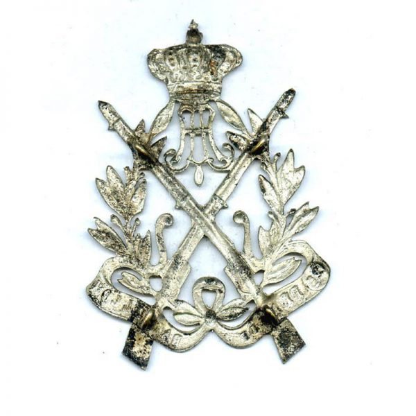 Silver Sharpshooters Royal badge large 75mm x 45mm with 4 lugs on... 2