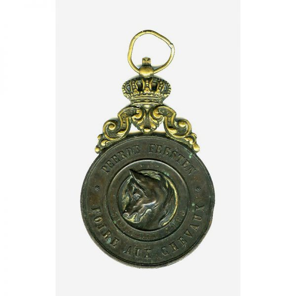 Horse Fair 3rd prize medal 1888  Leopold II large bronze medal with... 2
