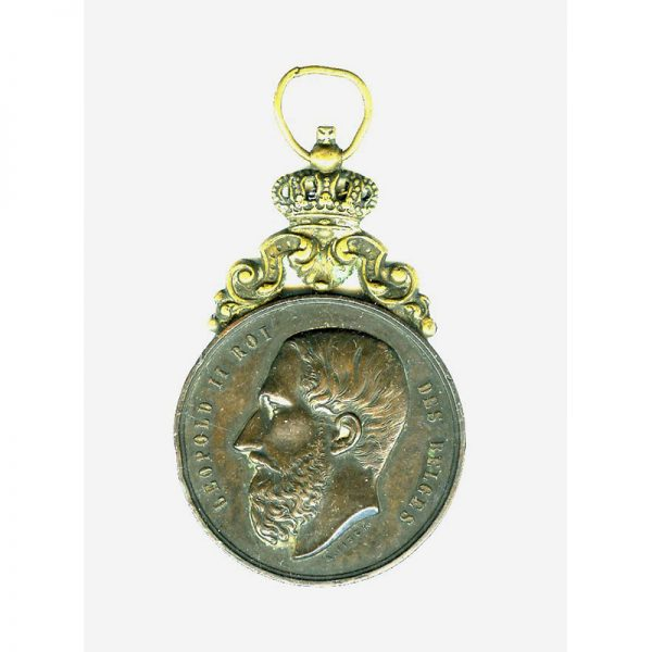 Horse Fair 3rd prize medal 1888  Leopold II large bronze medal with... 1