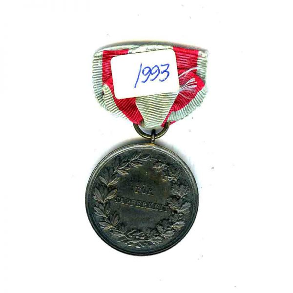 Ernst Ludwig medal for Bravery silver in packet of issue 	
