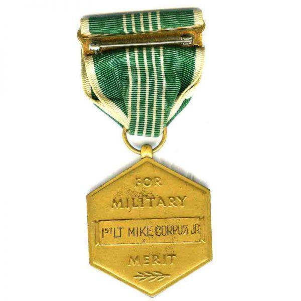 Army  Commendation medal named to 1st Lt. Mike Corpuz Jr(L18091)  G.V.F... 2