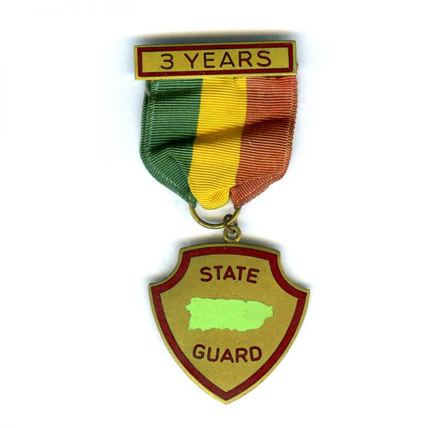 Peurto Rico State Guard 3 years service medal 1