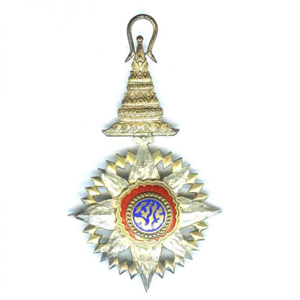 Order of the Crown Grand Officer neck badge and breast star 2nd... 2