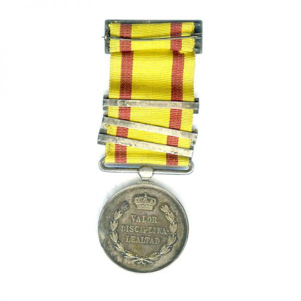 Alfonso XII Medal for Valour Loyalty  and Discipline in Operations Carlist Wars... 2