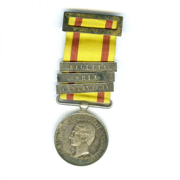 Alfonso XII Medal for Valour Loyalty  and Discipline in Operations Carlist Wars... 1
