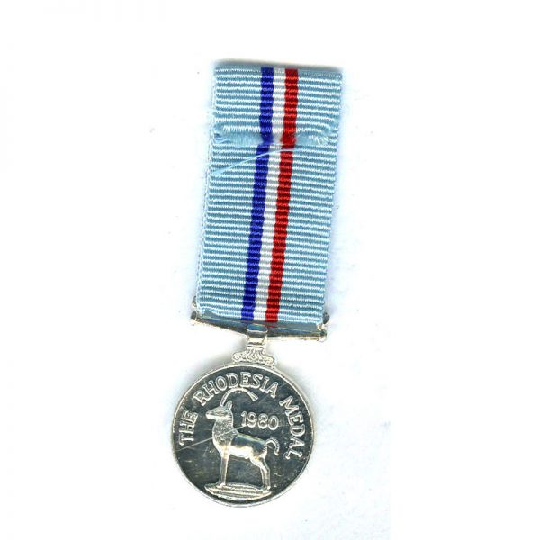 Rhodesia Medal 1980 (L19792)  E.F. £20 2