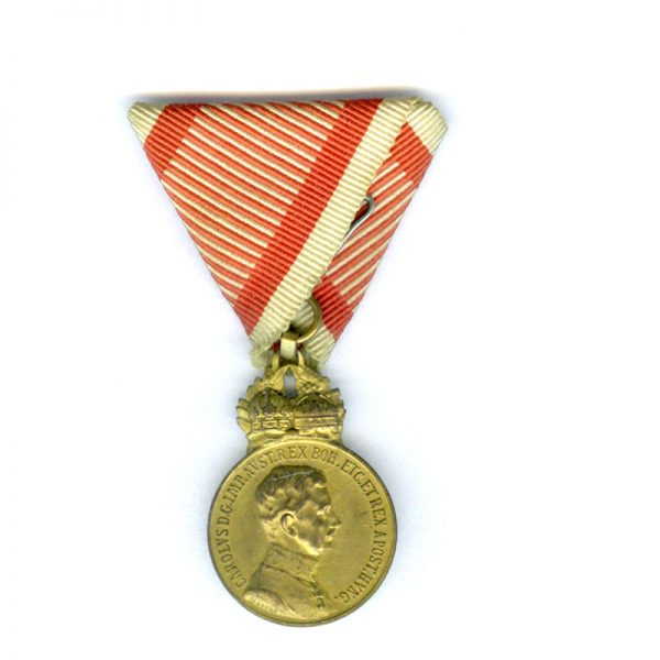 Military Merit Signum Laudis Carolus with 2 Crowns 1