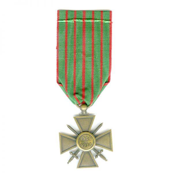 Croix de Guerre 1914-15(L20140)  V.F. £25 2