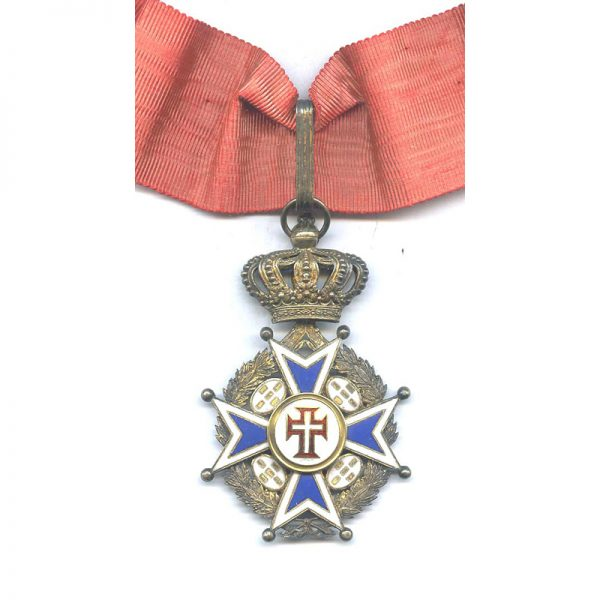 Order of Christ Commander neck badge Military with wreath and crown 2