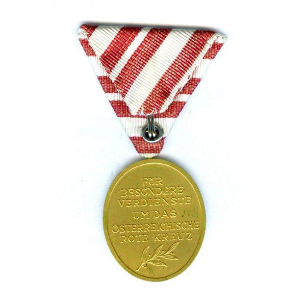 Red Cross Merit Medal Republic gilt(L20874)  N.E.F. £45 2