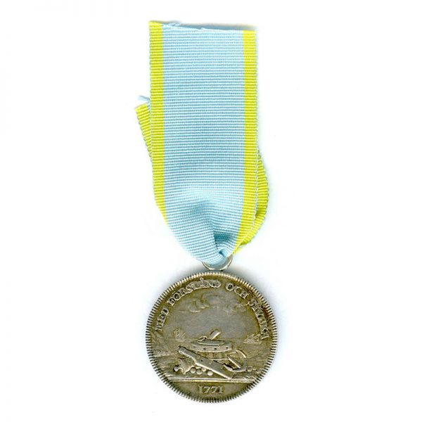 The Royal Society of Naval Science's Medal of Merit in silver 1