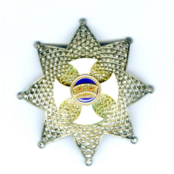 Order of the Crown Grand Officer  neck badge and breast star 2