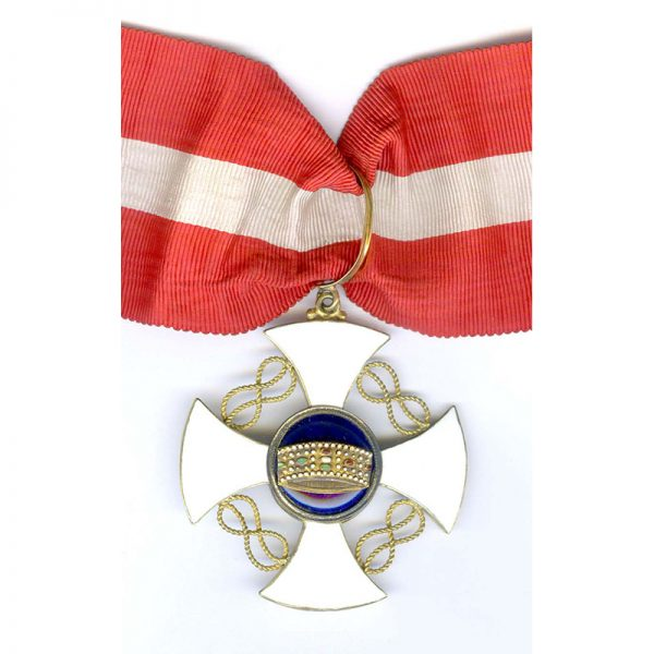 Order of the Crown Grand Officer  neck badge and breast star 1