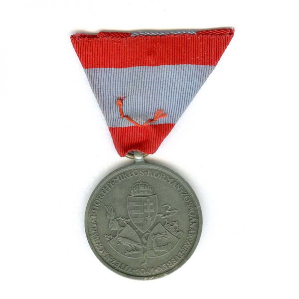 South  Hungary medal 1941 zinc 1