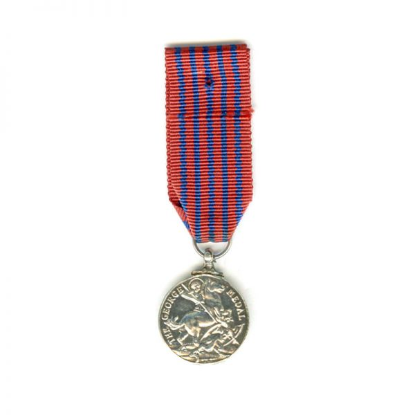 George  Medal (GVI) silver old issue (L21661)  N.E.F. £75 2