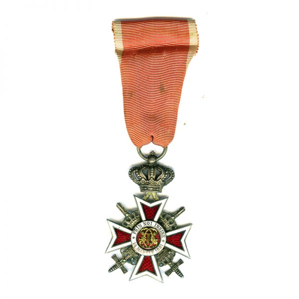 Order of the Crown 2nd type Knights badge with swords(L21948)  N.E.F... 1