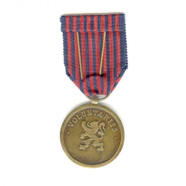 Volunteer Comabatant  medal 1952 awarded for Korea(L22103)  G.V.F.  £35 2