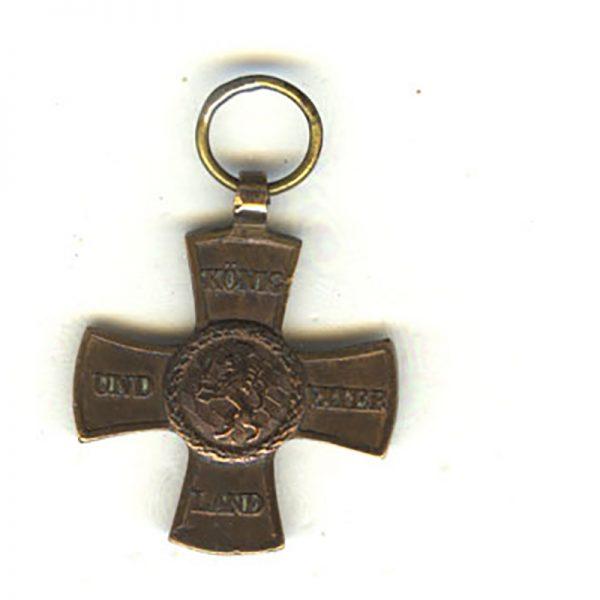 War Cross 1813/14 for Waterloo scarce (n.r.) bronze(L22242)  V.F.  £125 1