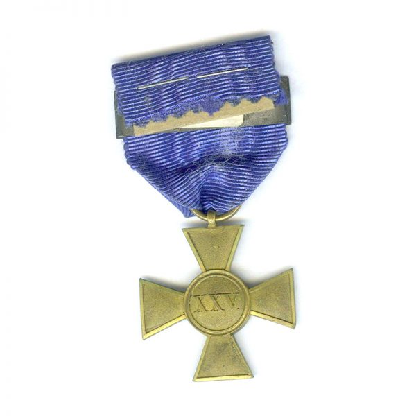 Military  L.S. Cross Officer 25   years gilt 2