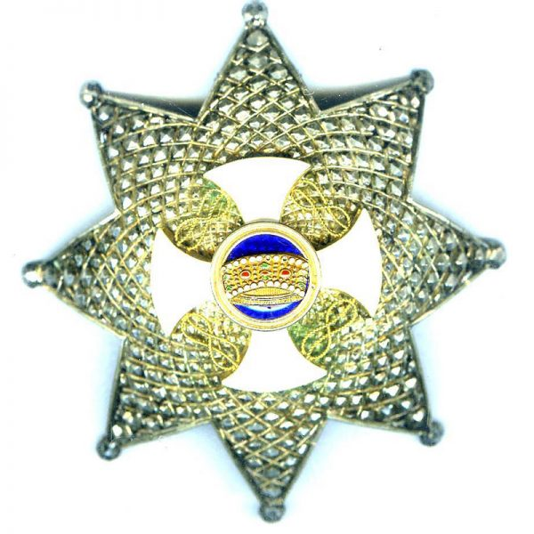 Order of the Crown Grand Officer  breast star 1