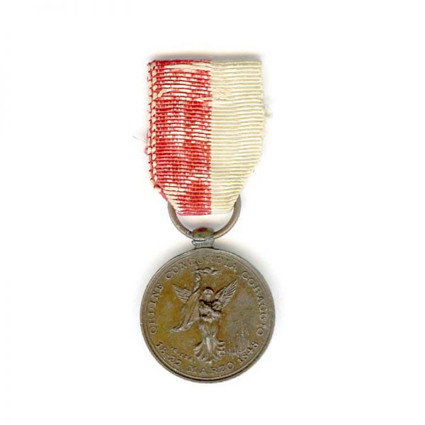 Milan  Medal of merit for the Uprising against Austria 18-22 March 1848 1