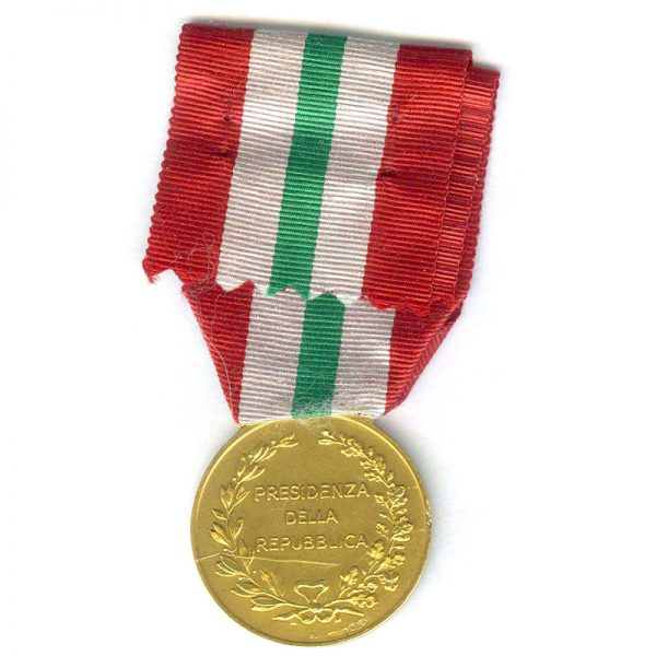 Presidents Medal  Gold (silver gilt hallmarked) (L22325)  E.F. £70 2