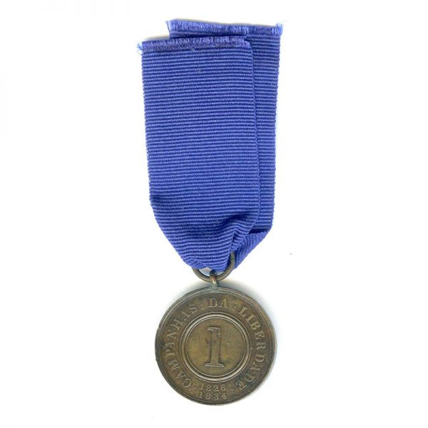 War of Liberation medal 1826-1834 for 1 campaign 2