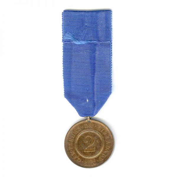 War of Liberation medal 1826-1834 for 2 campaign 2