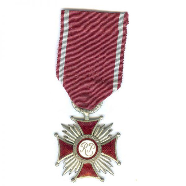 Cross of Merit R.P. silver(L22699)  G.V.F. £55 1