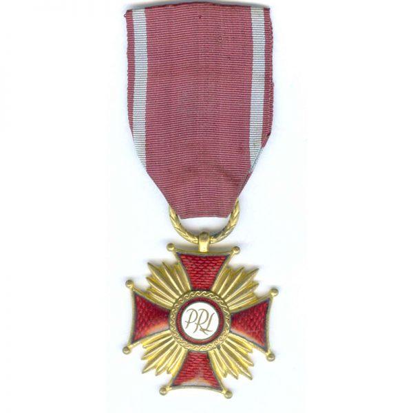 Cross of Merit P.R.L. Gold (gilt)(L22700)  E.F.  £35 1