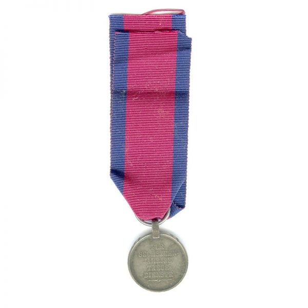 Military Wilhelms Army L.S. medal  Ernst August 1841-1846 young head (L22718)  V.F... 2