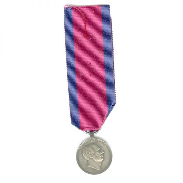 Military Wilhelms Army L.S. medal  Ernst August 1841-1846 young head (L22718)  V.F... 1