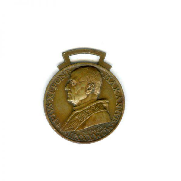 Pius XI memorial medal 1933 bronze (n.r.) (L22754)  G.V.F. £55 1