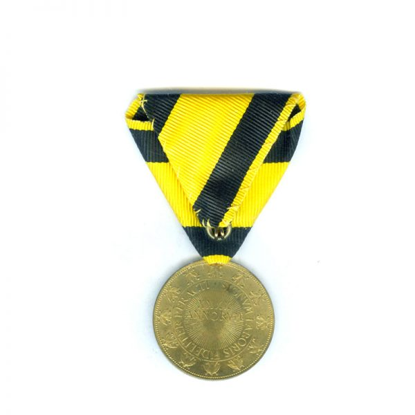Honour Medal for 40 years Faithful Service military bronze gilt for officers 2