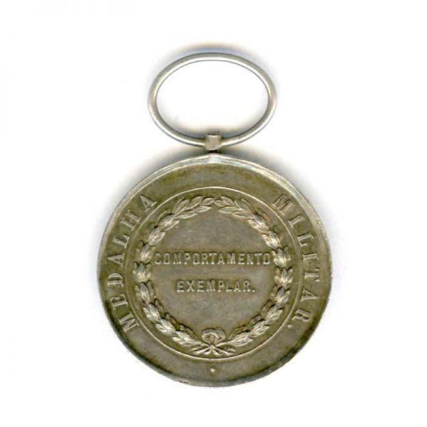 Don Luiz 1 Exemplary conduct medal silver (n.r.)(L23170)  N.E.F. £95 2