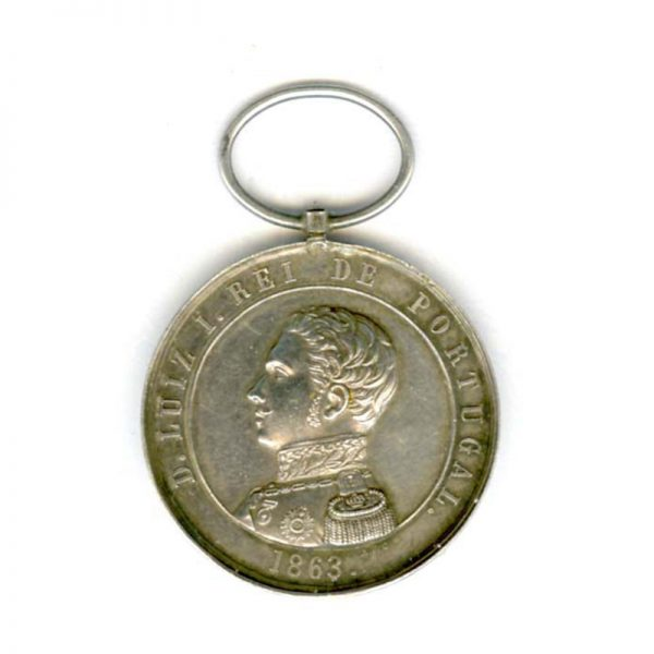 Don Luiz 1 Exemplary conduct medal silver (n.r.)(L23170)  N.E.F. £95 1