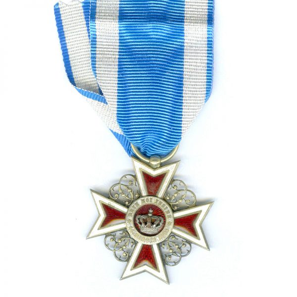 Order of the Crown 1st type officer  badge 1